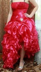 Платье вечернее (выпускное)  малиновое